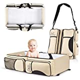 Koalaty 3-in-1 Universal Infant Travel bag, Portable Bassinet Crib, Changing Station, and Diaper Bag for Newborns or Baby. baby shower gift for new mom and dad.