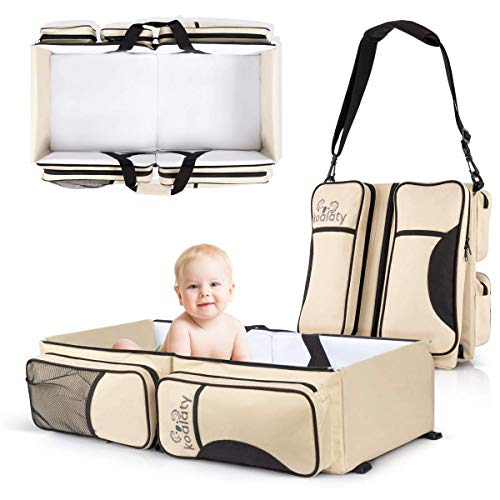 Koalaty 3-in-1 Universal Baby Travel Bag, Portable Bassinet...