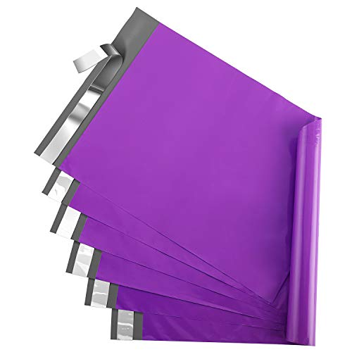Metronic 10x13 Shipping Bags Purple Poly Mailers 200PCS Envelopes Mailers with Self Adhesive Purple Poly Bags Waterproof and Tear-Proof Postal Bags