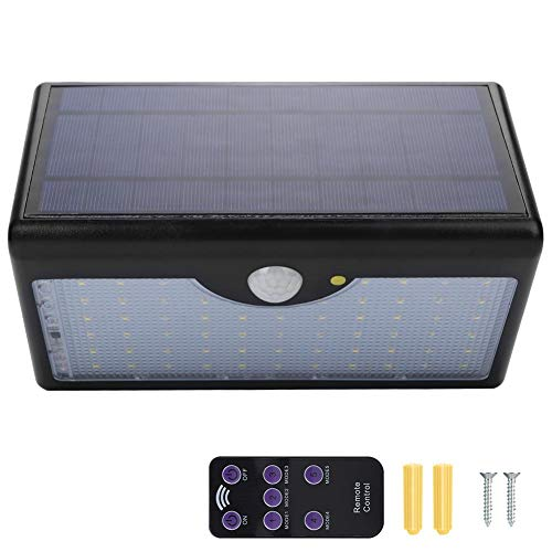 Antilog Solar Power Light, afstandsbediening Solar Powered Light 60 LEDs inductie-wandlamp voor de tuin