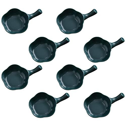 Cabilock 8 Unidades de de Plástico para Salsa con Forma de Flor Pequeños Platos de Condimento Tazones de Sushi Platos de Fruta para Servir para Platos