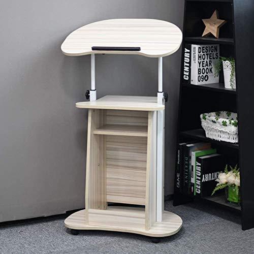 HEMFV Escritorio ergonómico para computadora Escritorio de la computadora, Ascensor movible ordenador escritorio, mesa de ordenador portátil con ruedas, for la lectura Ministerio del Interior, la esta