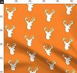 Orange, Hirsch, Geweih, Elch, Rehkopf, Silhouette,