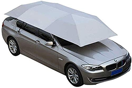 GMZTT Car Sunshades Automatic Car Tent Roof Cover Outdoor Portable Collapsible Umbrella Canopy Windproof UV Activity, Size 3 (Color : Blue-4x2.1m) (Color : Gray4.2x2.2m)