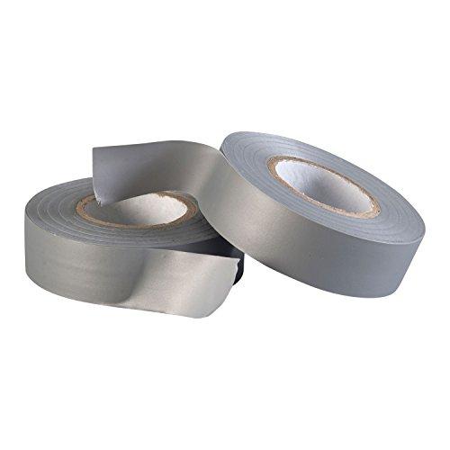 Gocableties Polyvinylchlorid-Elektro-Isolierband, 20 m x 19 mm, Premium-Doppelpack, 2 Rollen, Grau PVC-Klebeband