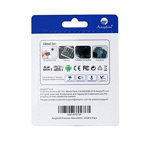 『32GB Micro SD Card x4 Pack Plus Adapter (Class 10 UHS-I MicroSDHC Extreme Pro Memory) 32 GB Ultra High Speed 90MB/s 600X UHS-1 Microsd SDHC. Amplim Cell Phone Tablet Flash (Quad 32G Performance TF G5) [並行輸入品]』の5枚目の画像