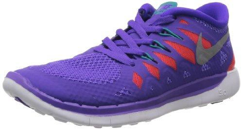 Nike Nike Mädchen 644446-500 Hausschuhe, violett/Silber/orange/grün (Purple Venom/metallic Silver/orange/Green), 36 EU