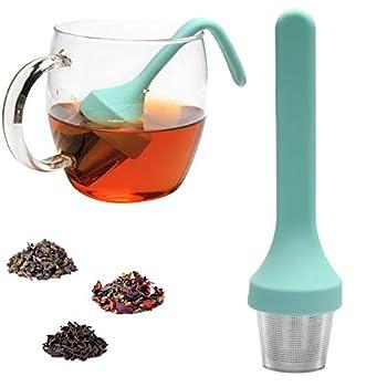 Fenshine Tea Infuser Extra Fine Mesh Tea Cup Filter Silicone Handle Stainless Steel Tea Strainer Loose Tea Steeper for Loose Leaf Tea or Herbal Tea