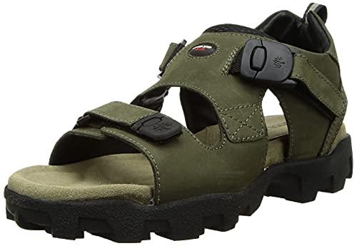 Woodland Men's Olive Green Leather Sandals-8 UK/India (42 EU) (GS 4011CMA)