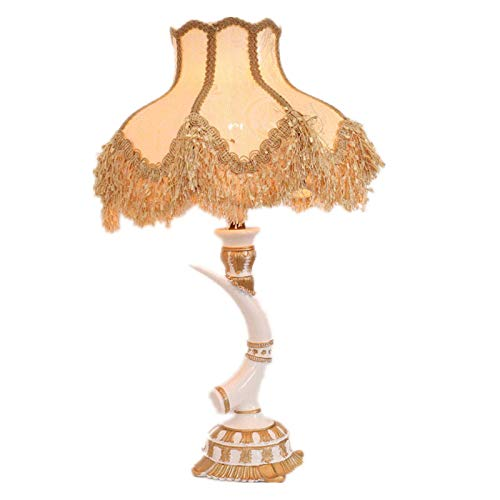 LGR Lámpara de Mesa de Estilo Europeo, lámpara de Escritorio de diseño Personalizado, iluminación Nocturna de Lectura Junto a la Cama Que se Aplica a la Sala de Estar, mesita de Noche del Dormitorio