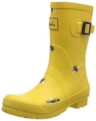 Joules Damen Molly Welly Gummistiefel, Gold (Gold Botanical Beetroot Gldbotb), 39 EU