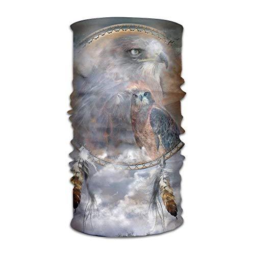Nifdhkw Peregrine Falcon Vintage Hawk Headwear for Men and Women-Yoga Sports Travel Workout Wide Headbands,Neck Gaiter,Bandana,Helmet Liner,Balaclava,Hair Turban,Scarf New14