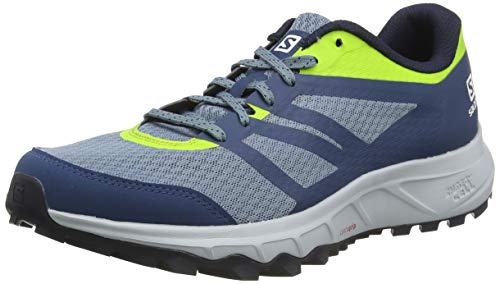 Salomon Trailster 2, Zapatillas de Trail Running Hombre, Azul (Bluestone/Poseidon/Acid Lime), 43 1/3 EU
