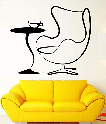 Wandaufkleber Schlafzimmer Sessel Couchtisch Wohnzimmer Aufkleber für Café Coffee Shop