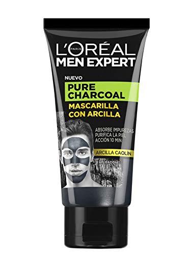 L'Oreal Men Expert - Pure Charcoal, Mascarilla con Arcilla p