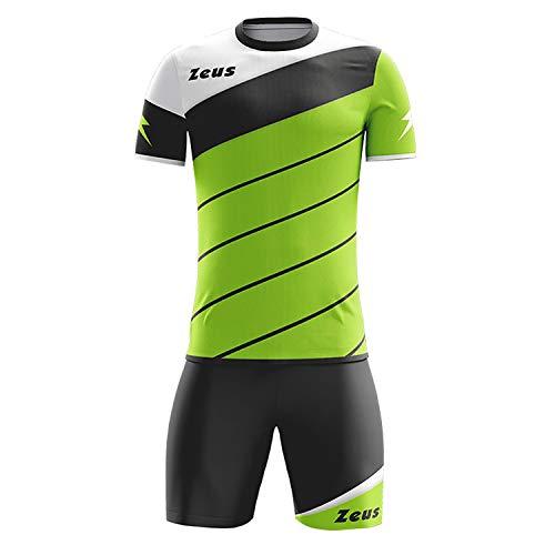 Zeus Kit Lybra Uomo Homme Football à Cinq Maillot Short pour Football Vert Fluo Schwarz (XL)