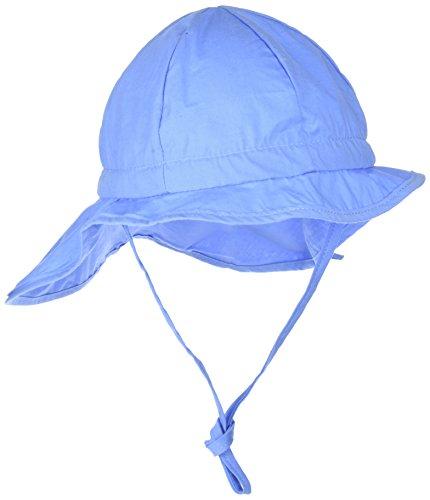 Melton Mädchen Sonnenhut mit Nackenschutz UV 30+, Uni Kappe, Blau (Lobelia 214), 55