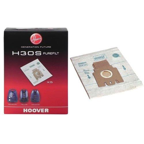 HOOVER - H30S - 5 SACCHETTI ORIGINALI PER ASPIRAPOLVERE Sacco PureFilt triplo strato senza filtri
