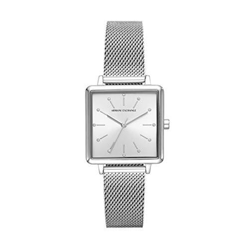 Armani Exchange Damen Analog Quarz Uhr mit Edelstahl Armband AX5800