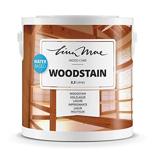Holzlasur (Lack) mit Satinierung Oberfläche Wasserbasiertem - Offenporiger Protektor für Dekorieren und Schützt Frischholz und Altholz Ideal für Stühle, Türen und Tische (2.3 Liter, Farblos)