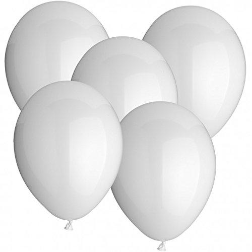 doriantrade.de 100 Luftballons Ø 30 cm Farbe frei wählbar Ballons Helium Luftballon (Weiß)