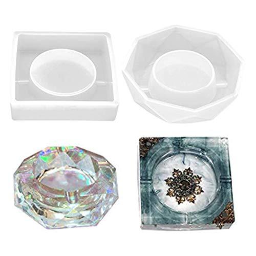 N/A. Cenicero de resina de silicona de resina para manualidades, para guardar pendientes, anillos, monedas, llaves para los amantes
