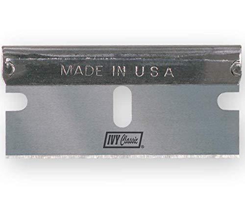 IVY Classic 11182 Single-Edge Razor Blades, USA, 100 Pack