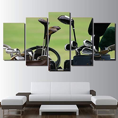 Modulaire poster foto 5 panel golfclub woondecoratie woonkamer HD print moderne abstracte canvas schilderij kunst aan de muur