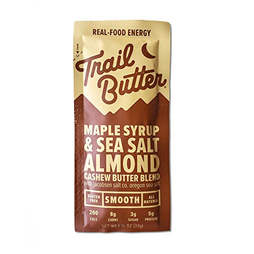 Trail Butter, Lil' Squeeze 12-Pack Almond Butter Blend (1.15oz/each), Maple Syrup & Sea Salt Blend