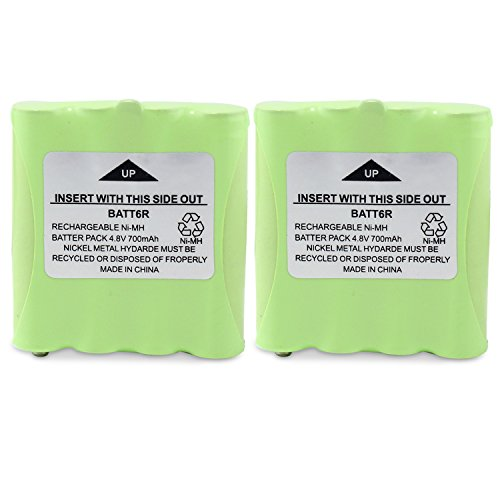 abcGoodefg BATT6R Battery Pack, 2 Pack 4.8V 700mAh Rechargeable Battery for Midland Two Way Radio Walkie Talkie LXT560VP3 LXT500VP3 LXT535VP3 LXT560