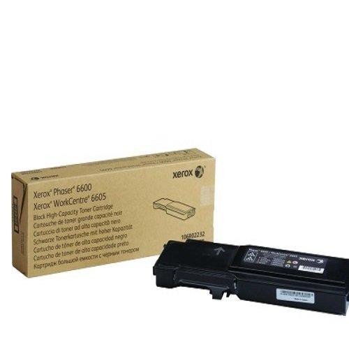 Xerox Phaser 6600/WorkCentre 6605 Cartucho de tóner Negro de Capacidad Normal (3000 páginas) - Tóner para impresoras láser (3000 páginas, Laser, Negro, 10-40 °C, 20-80%, -20-40 °C) Color