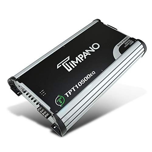 Timpano TPT-10500EQ Compact Car Audio Amplifier - 10500 Watts at 2 Ohms - Full Range Class D Small Sized Monoblock Amp with Built-in Equalizer