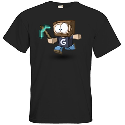 getshirts - Gronkh Official Merchandising - T-Shirt - Gronkhcraft - Black 5XL
