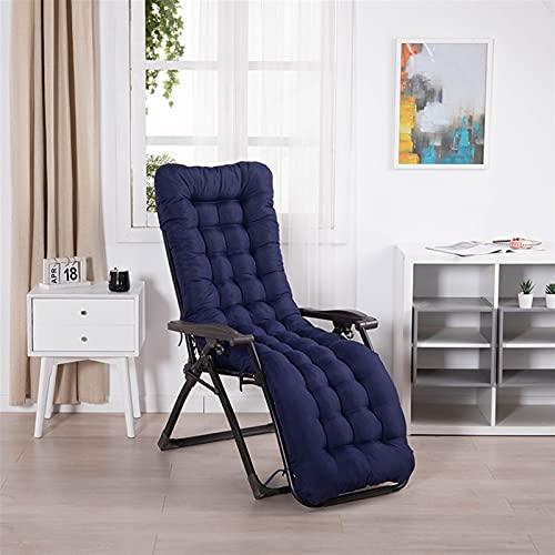 cuscino per sdraio Sun Lounger Cushion Pad Spessore Sostituzione Da Giardino Reclinabile Rilasser Cuscino Per Sedia Per Sedia A Chaise Sdraio Reclinabile Giardino Da Giardino Al(Color:Marina Militare)