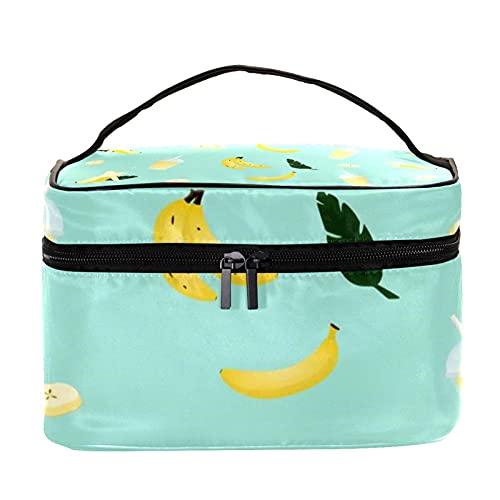 Bolsa de cosméticos con patrón de flores de frutas, organizador grande para mujeres y niñas, organizador de cosméticos para mujeres, niñas, niños, bolsa de maquillaje, monedero