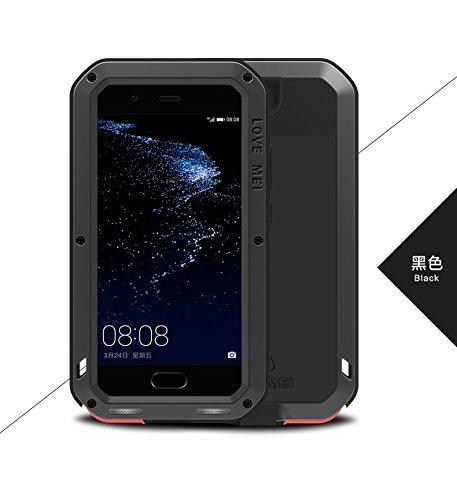 Carcasa antigolpes e Impermeable para Huawei P10 Plus, diseño con Texto Love Mei Francia, Color Negro
