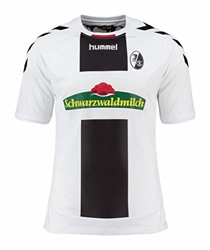 Hummel SC Freiburg Fußball Trikot Away 2016 2017 Polyester schwarz weiß Herren Größe L