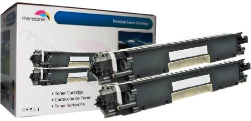 2 cartuchos de tóner de repuesto para HP CF350A, CF-350A 130A HP Color LaserJet Pro MFP M 176 n, Pro MFP M 177 fw (negro)