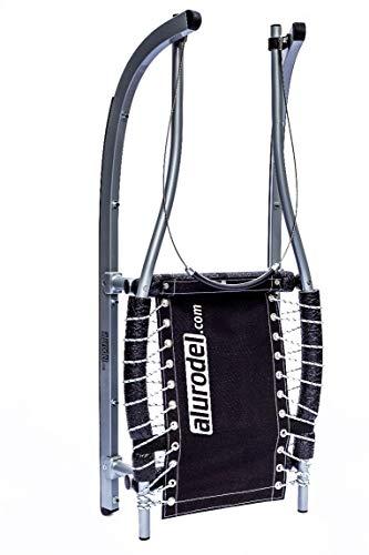 Torggler Alu Sportrodel, Allround-Rodel für sportliche Freizeitrodler - sehr leichtes Gewicht, ausgezeichnete Lenkeigenschaften, pflegeleicht - Länge 115 cm, schwarzer Sitzbezug