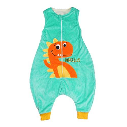 Xmiral Kleinkind Kinder Unisex Cartoon Overall Ärmellos Tragbar Cosplay Schlafsack Kinder Jungen Mädchen Lustige Decke Bodysuit(Blau,5-7 Jahre)