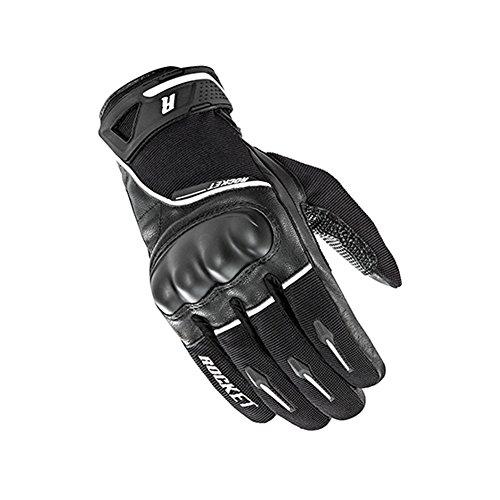 Joe Rocket Supermoto Mens On-Road Motorcycle Leather Gloves - Black/White/X-Large