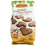 Birkengold Dinkel-Vollkorn-Kekse, 125 g | ohne Zuckerzusatz | 100 % mit europäischem Xylit gesüßt | vegan | gesundes Naschen | ohne Weizen