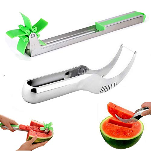 powerful Watermelon Slicer Smart Windmill Slicer Watermelon Stainless Steel Watermelon Die Slicer and Center Punch