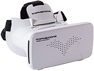 3D VR Glasses, Topmaxions Virtual Reality Headset 3D Viewing Goggles Audio & Video Accessories for Apple iPhone 7s/7 6s/6 plus/6/5s/5c/5 Samsung s5/s6 note4 note5 and Other 3.5