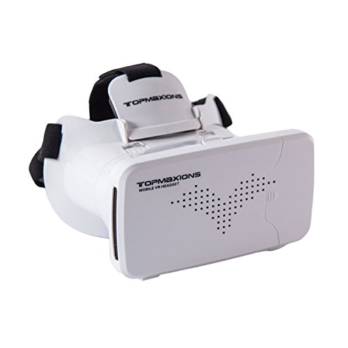 """3D VR Glasses, Topmaxions Virtual Reality Headset 3D Viewing Goggles Audio & Video Accessories for Apple iPhone 7s/7 6s/6 plus/6/5s/5c/5 Samsung s5/s6 note4 note5 and Other 3.5""""-6.0"""" Cellphones"""