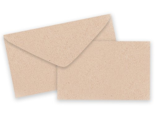 Pack of 25 Sets Plain Kraft Card/Envelopes Gift Enclosure Cards Recycled Made USA