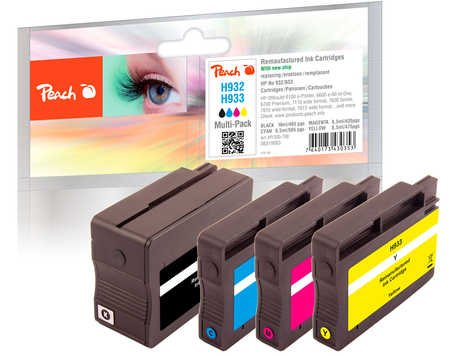 Peach Spar Pack Tintenpatronen kompatibel zu HP No. 932, No. 933