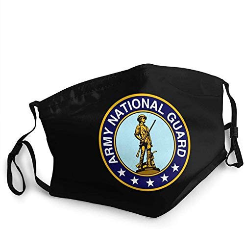 Unisex Face Cover Reusable Army National Guard Veteran Cloth Face Cover for Sports Outdoor
