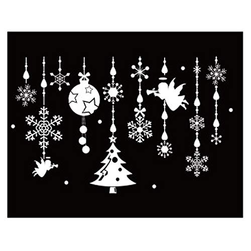 Apofly 1 Conjunto Etiqueta De La Pared Decorativo De Navidad Pegatinas De Pared...