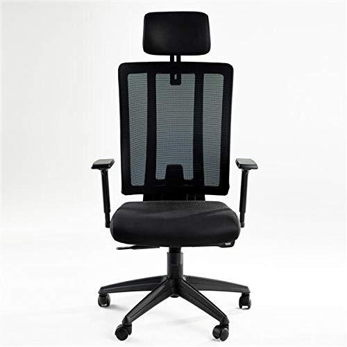 Silla de oficina ergonómica, silla de tareas de respaldo alto, silla de computadora de soporte de malla, giratoria ejecutiva multifunción con reposacabezas y reposabrazos para uso doméstico y oficina